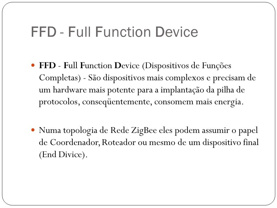 FFD - Full Function Device