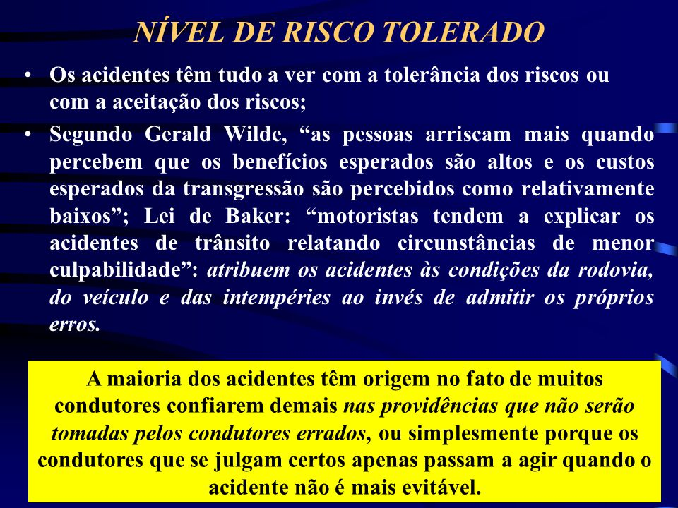 NÍVEL DE RISCO TOLERADO