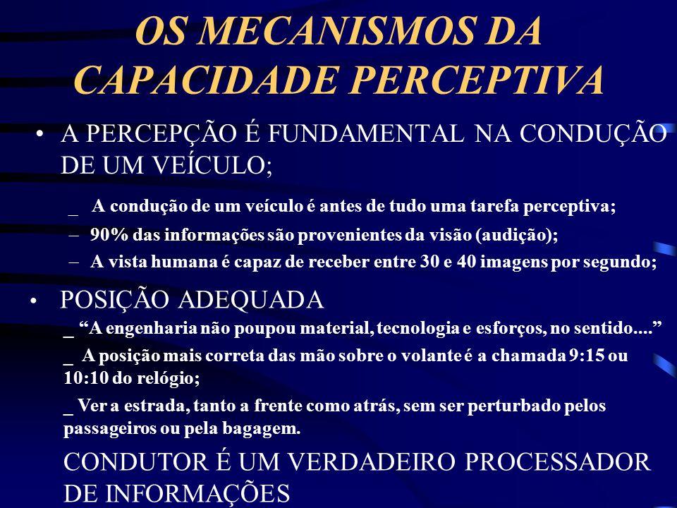 OS MECANISMOS DA CAPACIDADE PERCEPTIVA