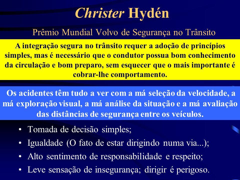 Christer Hydén Prêmio Mundial Volvo de Segurança no Trânsito