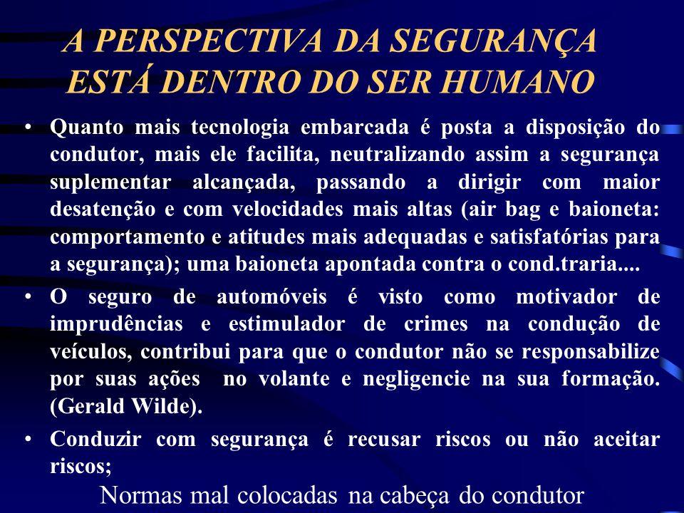 A PERSPECTIVA DA SEGURANÇA ESTÁ DENTRO DO SER HUMANO
