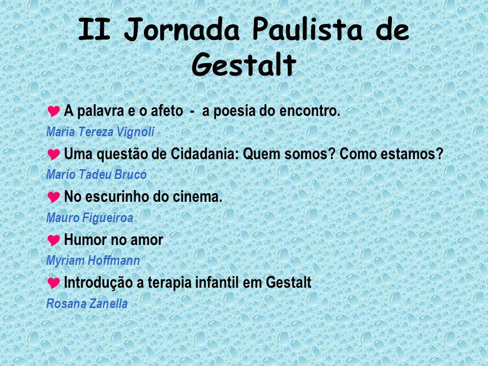 II Jornada Paulista de Gestalt