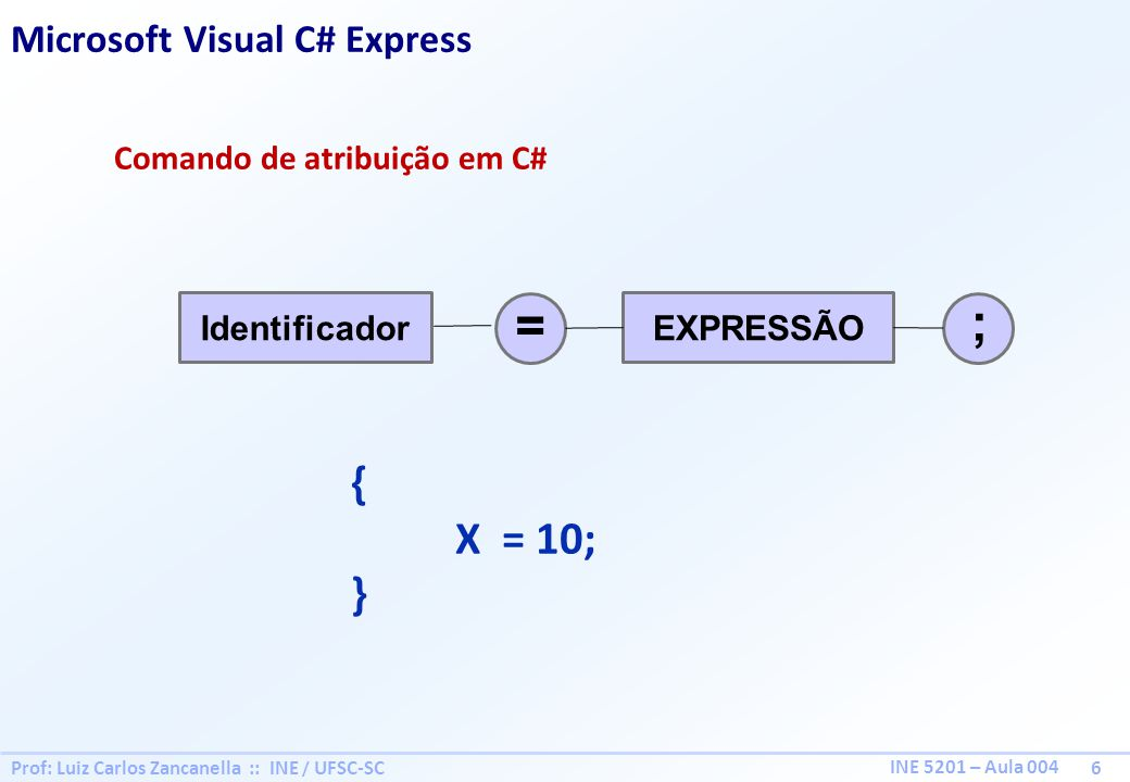 ; = { X = 10; } Microsoft Visual C# Express