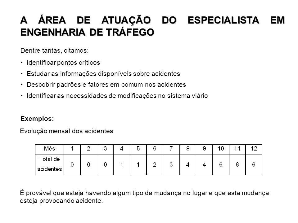 A ÁREA DE ATUAÇÃO DO ESPECIALISTA EM ENGENHARIA DE TRÁFEGO