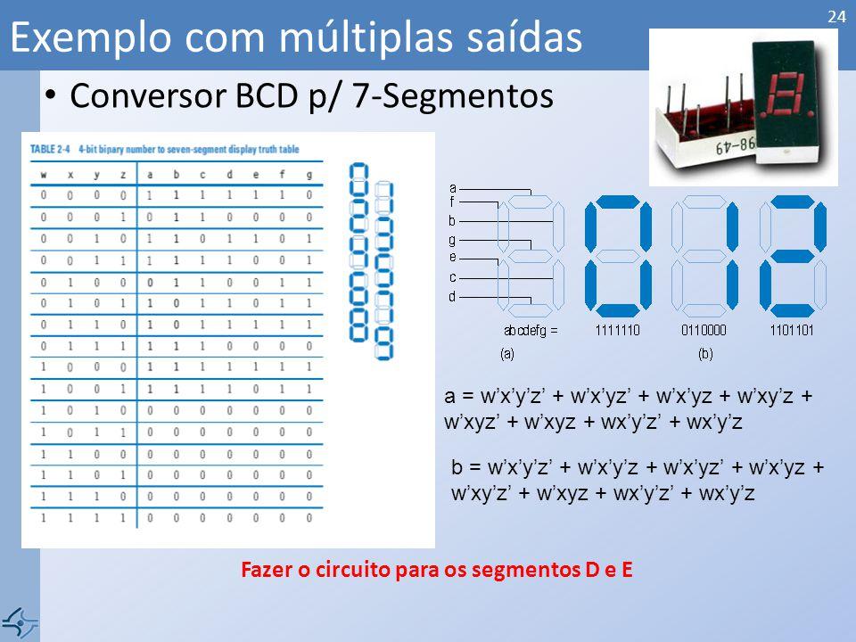 Exemplo com múltiplas saídas