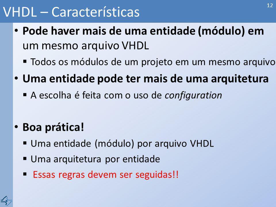 VHDL – Características