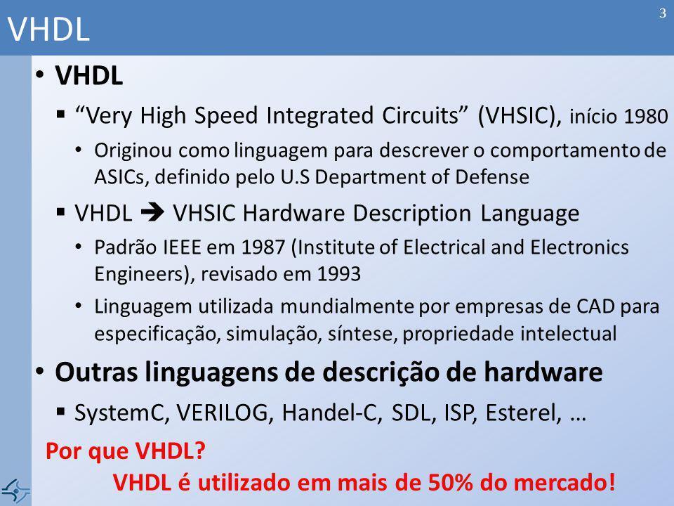 VHDL VHDL Outras linguagens de descrição de hardware