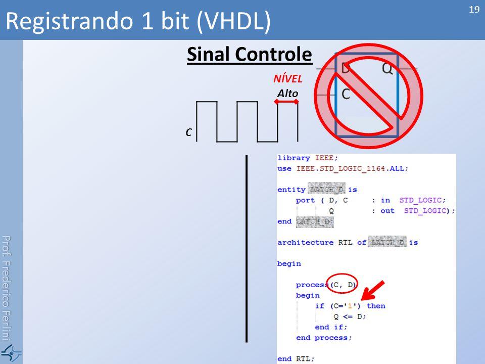 Registrando 1 bit (VHDL)