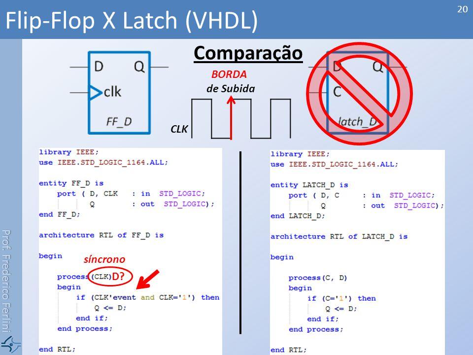Flip-Flop X Latch (VHDL)