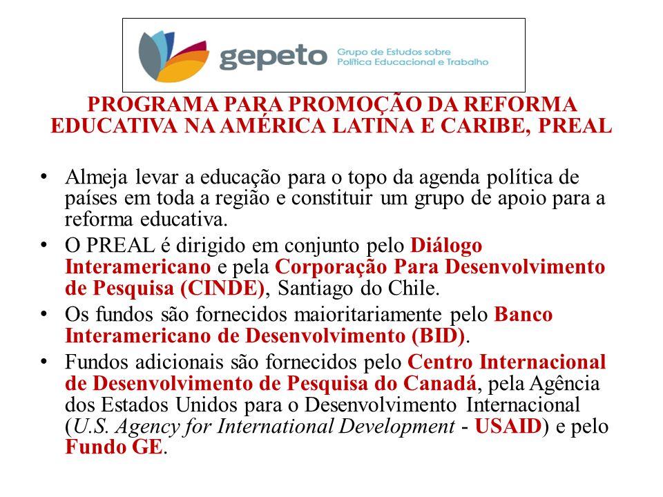 PROGRAMA PARA PROMOÇÃO DA REFORMA EDUCATIVA NA AMÉRICA LATINA E CARIBE, PREAL