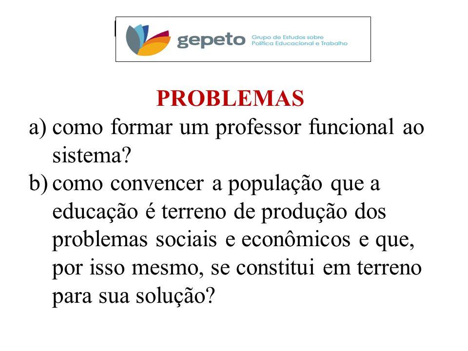 PESQUISAS EM CURSO PROBLEMAS