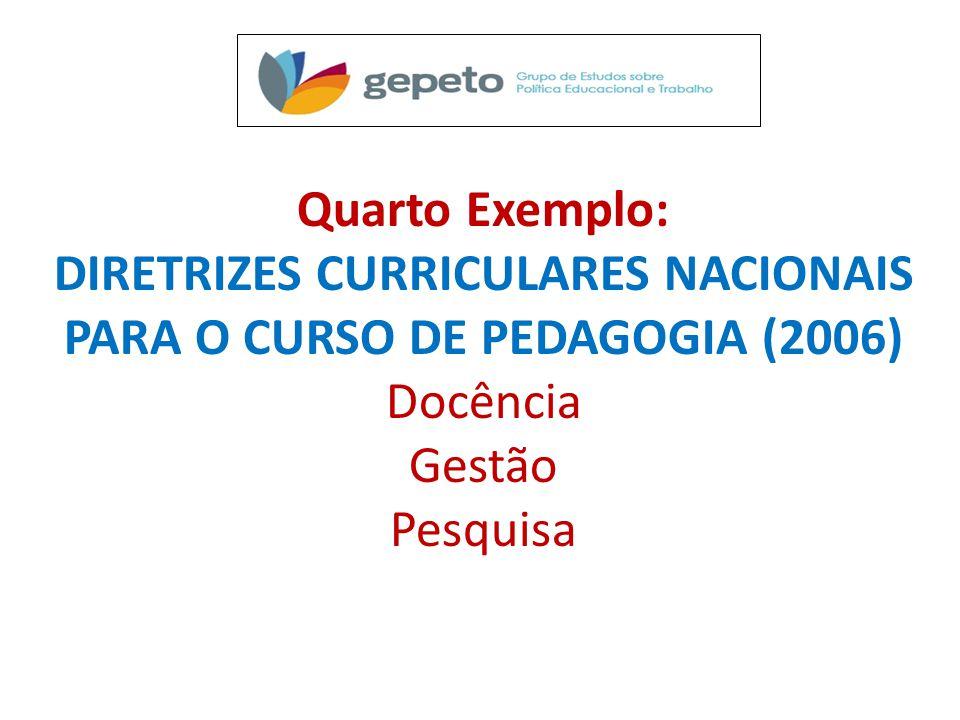 DIRETRIZES CURRICULARES NACIONAIS PARA O CURSO DE PEDAGOGIA (2006)