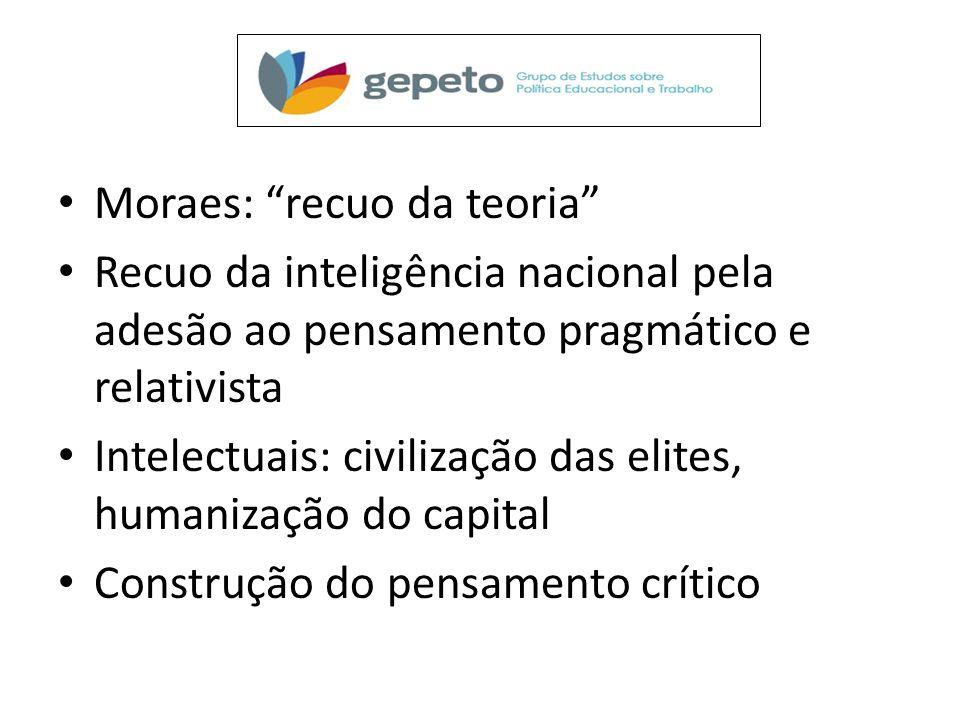 Moraes: recuo da teoria