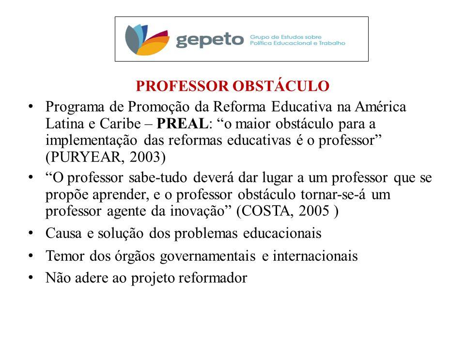 PROFESSOR OBSTÁCULO