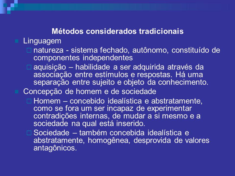 Métodos considerados tradicionais