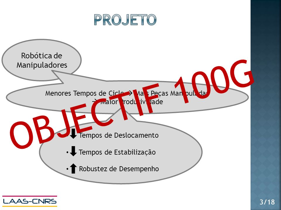 OBJECTIF 100G projeto Robótica de Manipuladores