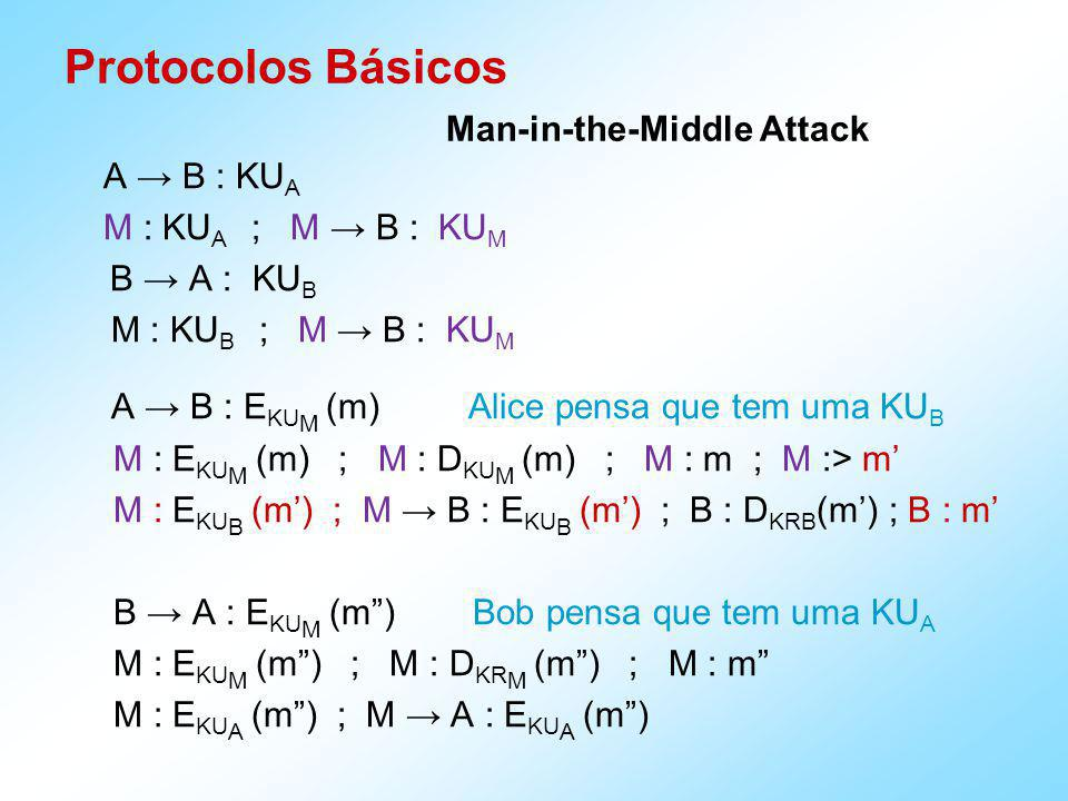 Protocolos Básicos Man-in-the-Middle Attack