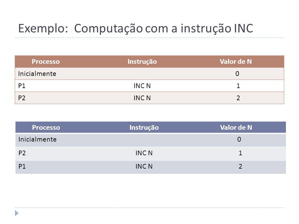 Exemplo: Computação com a instrução INC