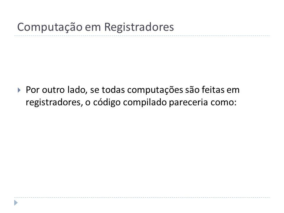 Computação em Registradores