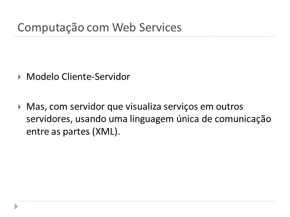 Computação com Web Services