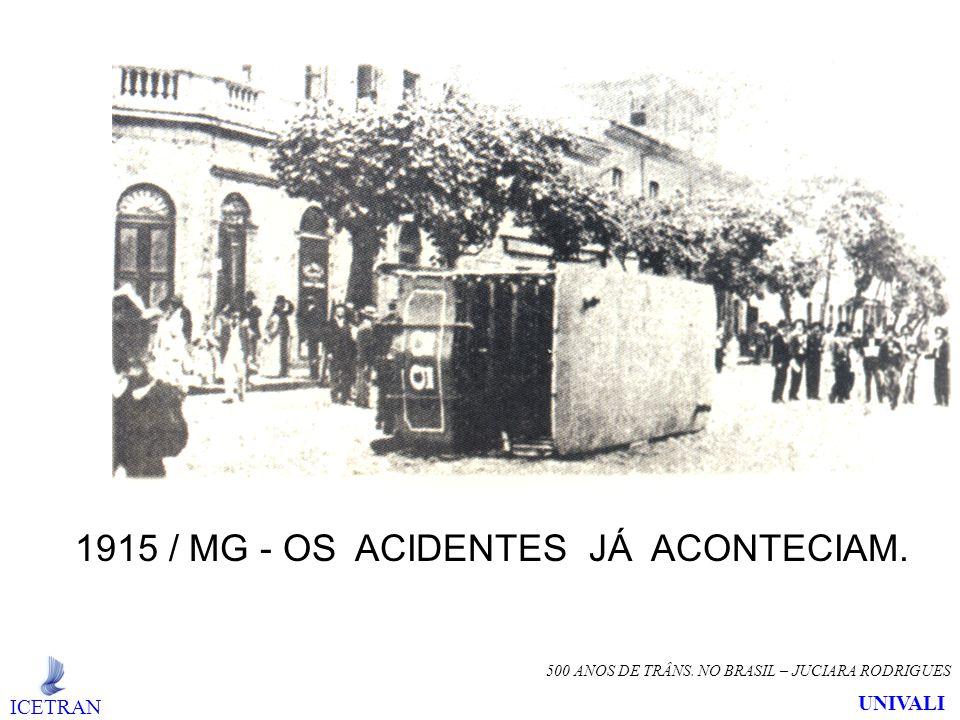 1915 / MG - OS ACIDENTES JÁ ACONTECIAM.