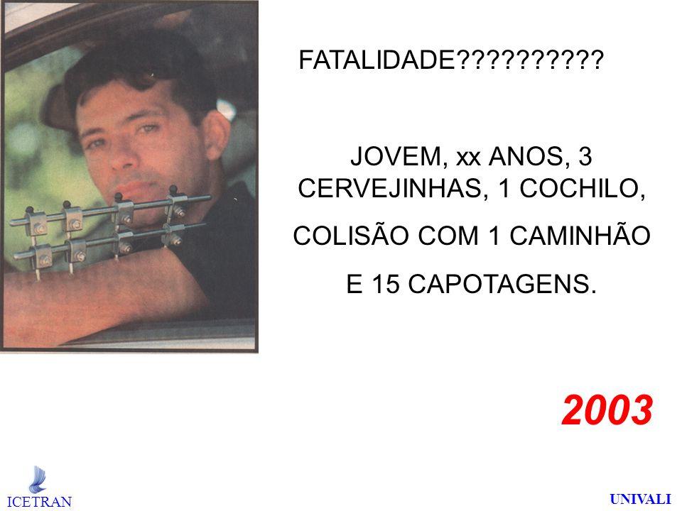 JOVEM, xx ANOS, 3 CERVEJINHAS, 1 COCHILO,