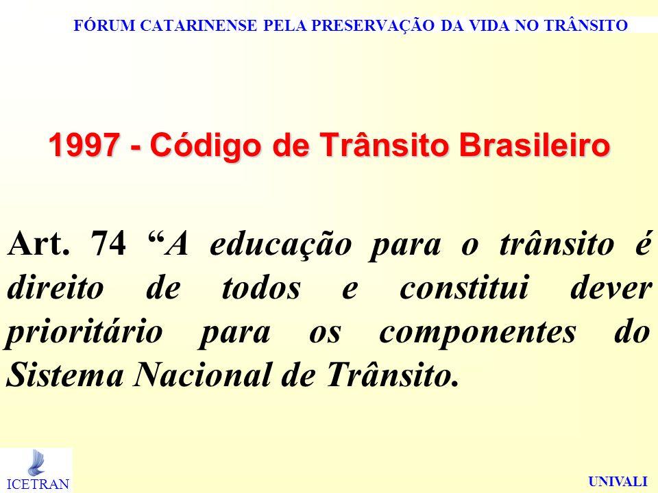 FÓRUM CATARINENSE PELA PRESERVAÇÃO DA VIDA NO TRÂNSITO