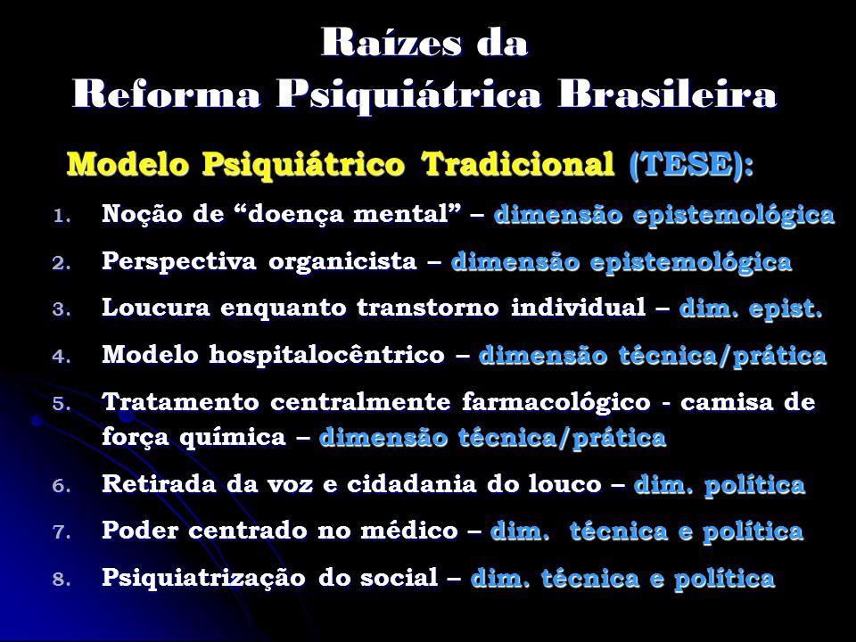 Raízes da Reforma Psiquiátrica Brasileira
