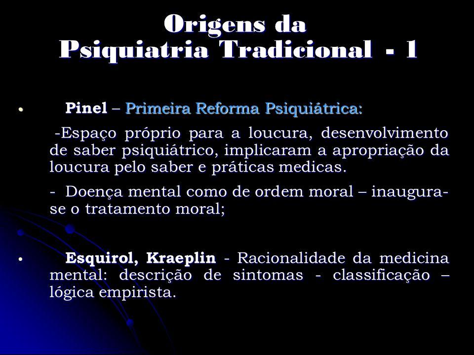 Origens da Psiquiatria Tradicional - 1