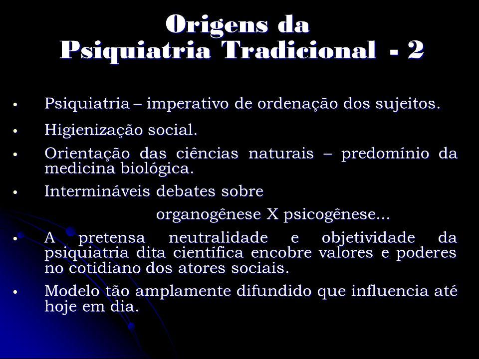 Origens da Psiquiatria Tradicional - 2