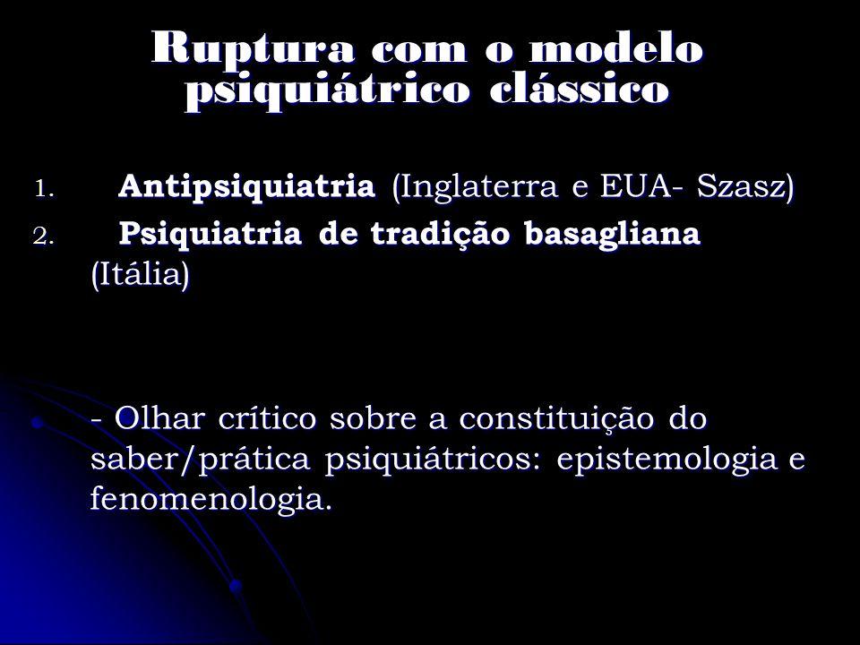 Ruptura com o modelo psiquiátrico clássico