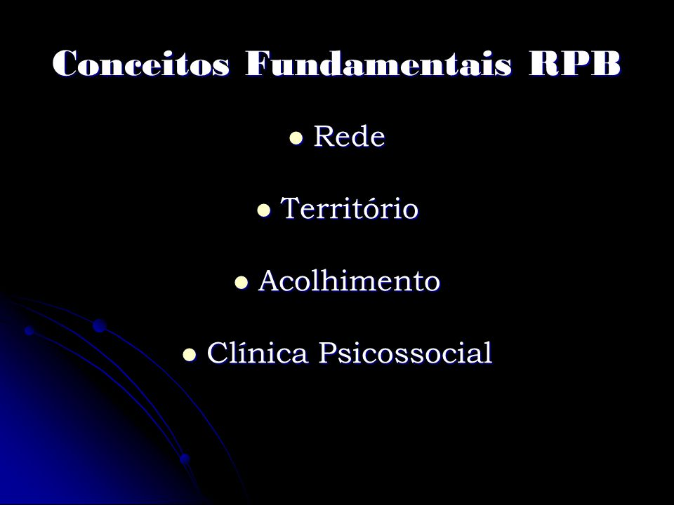 Conceitos Fundamentais RPB