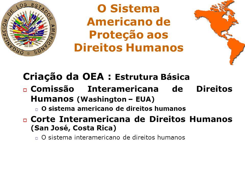 O Sistema Americano de Proteção aos Direitos Humanos