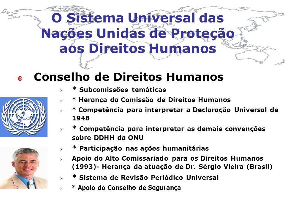 O Sistema Universal das Nações Unidas de Proteção aos Direitos Humanos