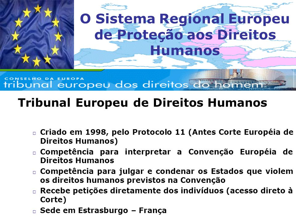 O Sistema Regional Europeu de Proteção aos Direitos Humanos