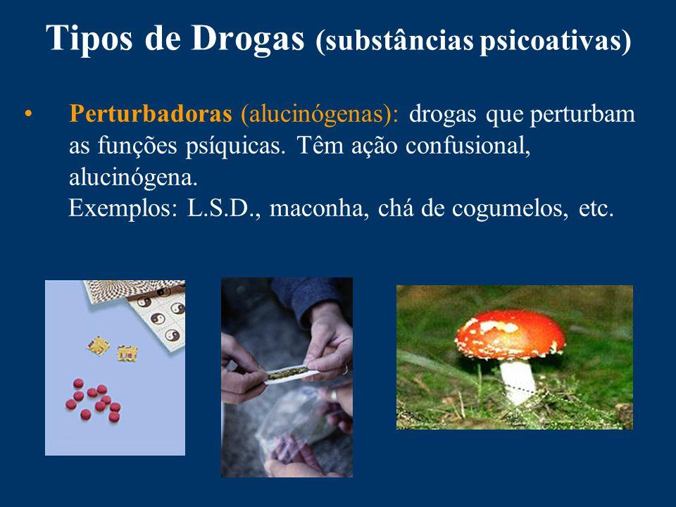 Tipos de Drogas (substâncias psicoativas)