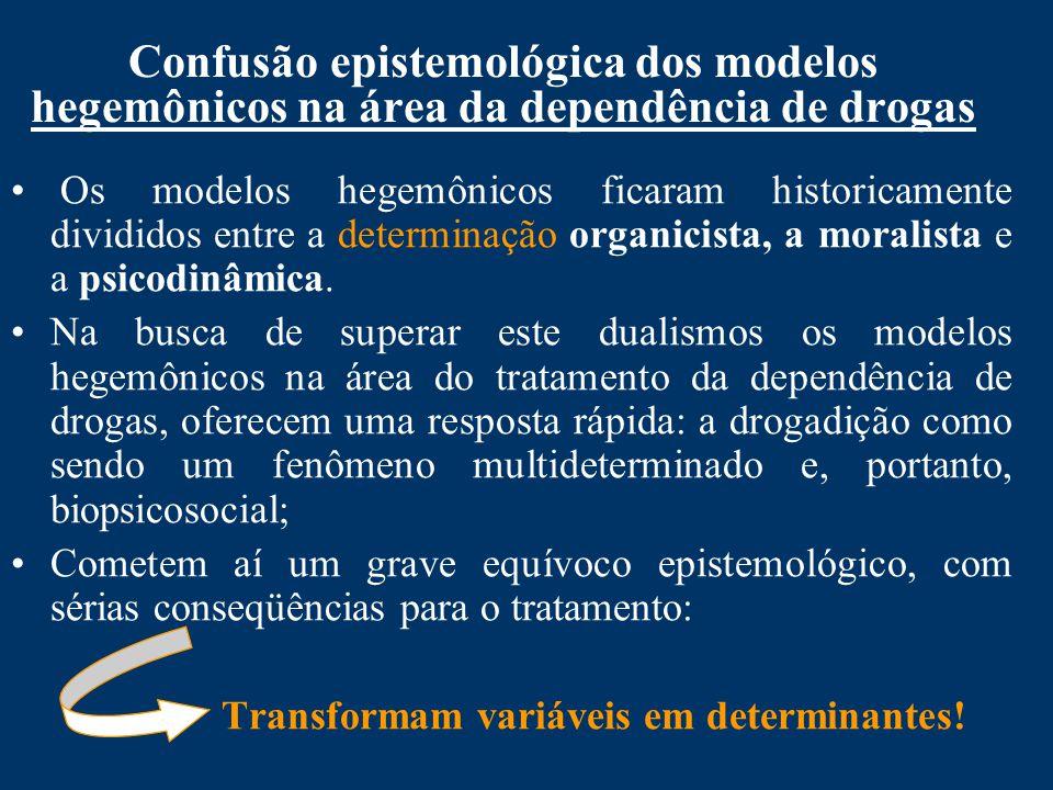 Confusão epistemológica dos modelos hegemônicos na área da dependência de drogas
