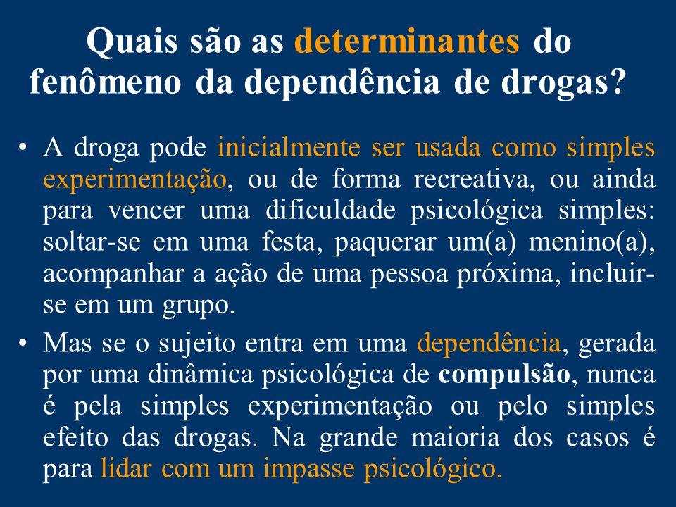 Quais são as determinantes do fenômeno da dependência de drogas