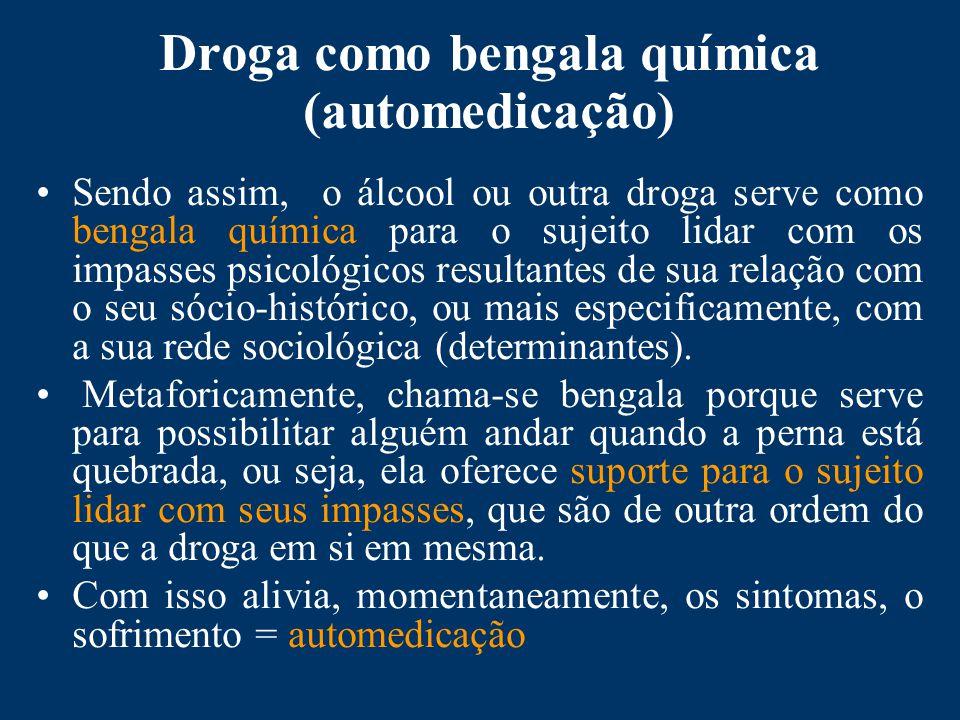 Droga como bengala química (automedicação)