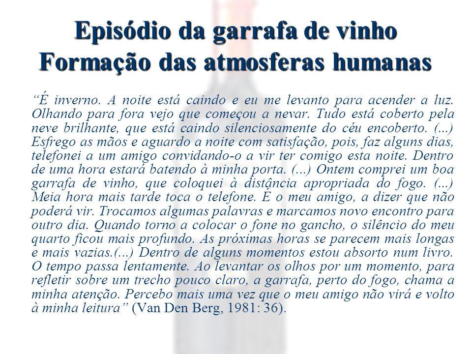 Episódio da garrafa de vinho Formação das atmosferas humanas