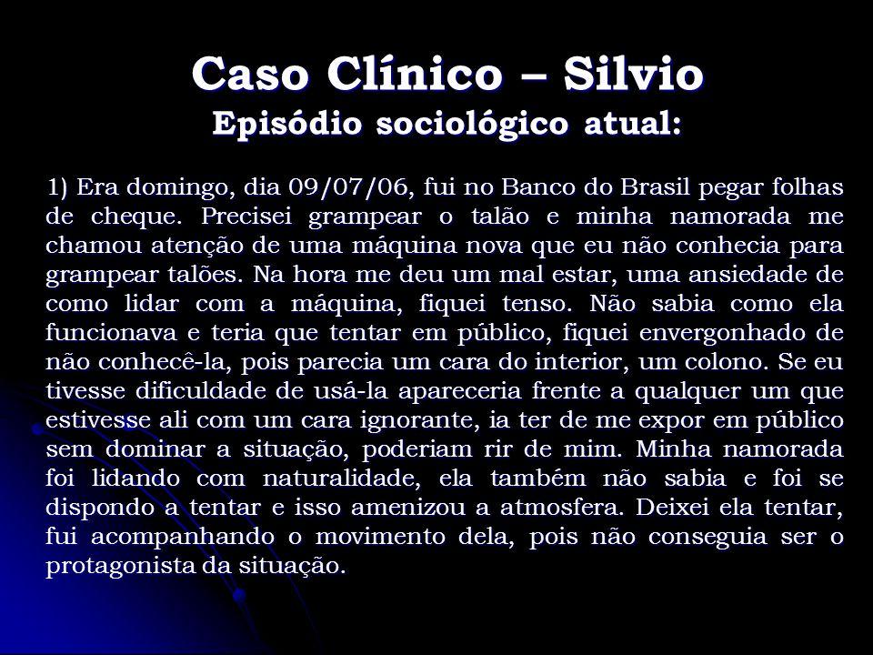 Caso Clínico – Silvio Episódio sociológico atual: