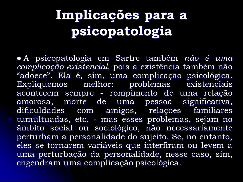 Implicações para a psicopatologia