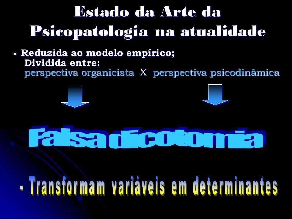 Estado da Arte da Psicopatologia na atualidade