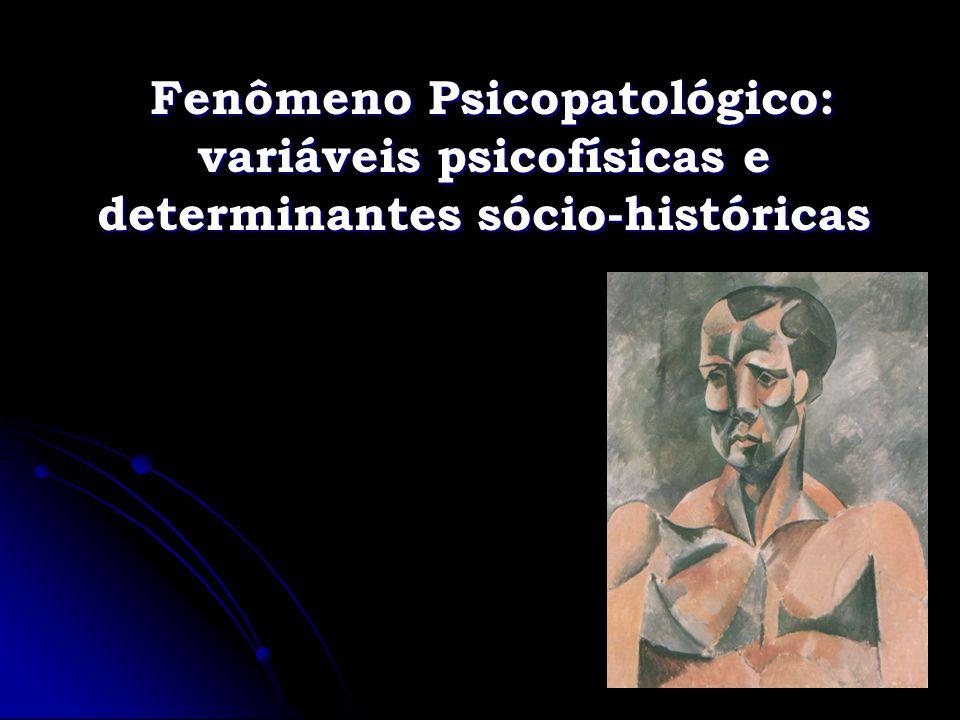 Fenômeno Psicopatológico: variáveis psicofísicas e determinantes sócio-históricas
