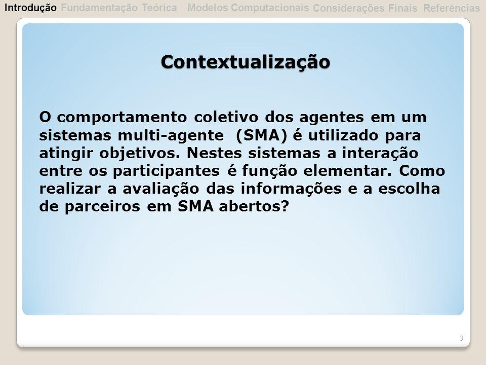 Introdução Fundamentação Teórica. Modelos Computacionais. Considerações Finais. Referências. Contextualização.