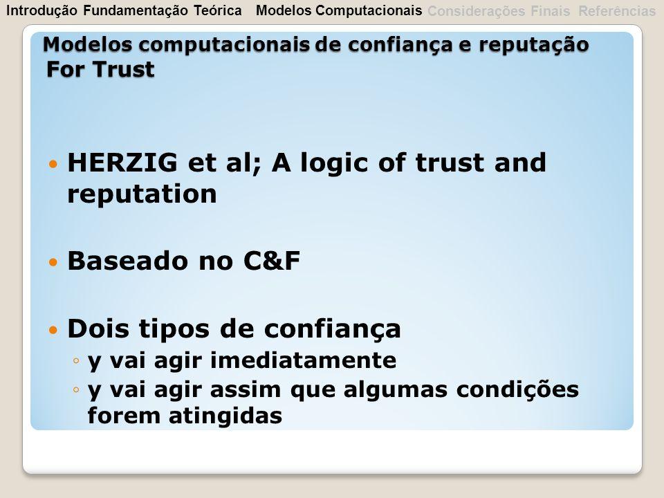 Modelos computacionais de confiança e reputação