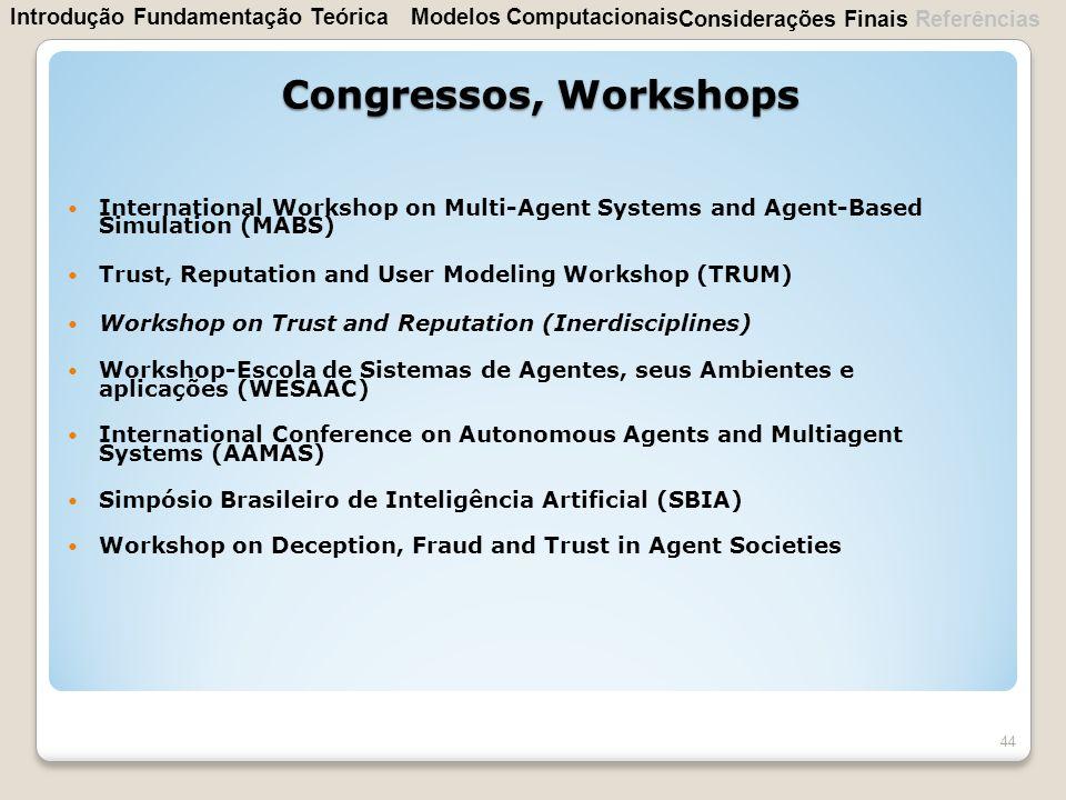Congressos, Workshops Introdução Fundamentação Teórica