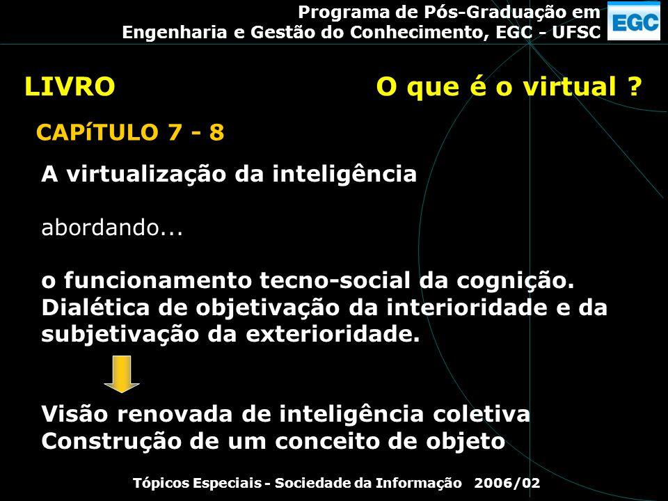 Tópicos Especiais - Sociedade da Informação 2006/02