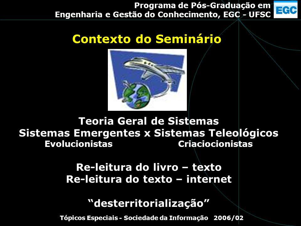 Contexto do Seminário Teoria Geral de Sistemas