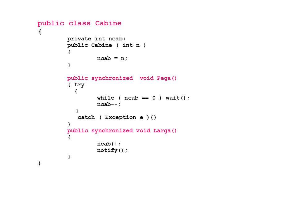 public class Cabine { private int ncab; public Cabine ( int n )